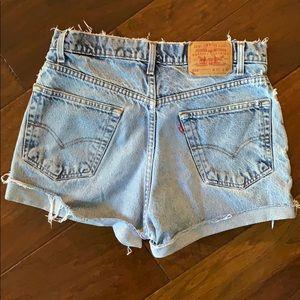 Levi's vintage cut offs shorts 550